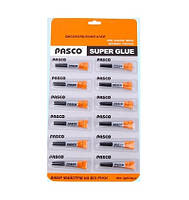 Клей Pasco супер клей C-030-1/3г блістер (2*6) 576/48/12 код 236