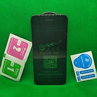 Изогнутое защитное стекло для IPhone 6, 6s 5D Черное вигнуте захисне скло для