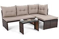 Комплект мебели из техноротанга CORTE (коричневый)