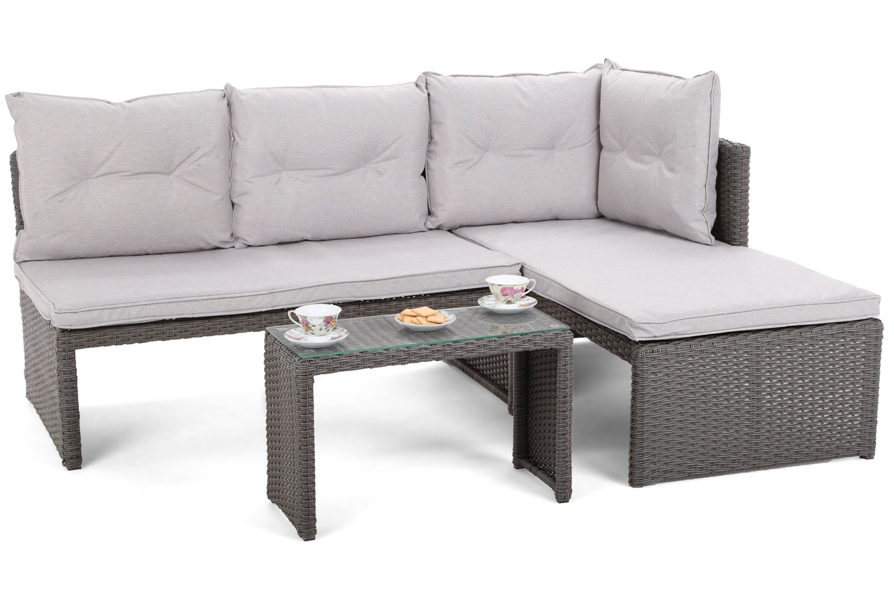 Комплект мебели из техноротанга CORTE (серый)