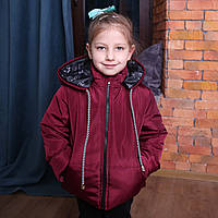 Весна-осень детская куртка с капюшоном на синтепоне