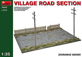 Пластиковая модель. Фрагмент деревенской дороги.1/35 MINIART 36042