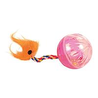 Игрушка для кошек Trixie Мяч с погремушкой и хвостом d=4 см, набор 2 шт. (пластик, цвета в ассортименте)