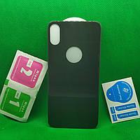 IPhone X Изогнутое 5D защитное стекло Заднее Черное