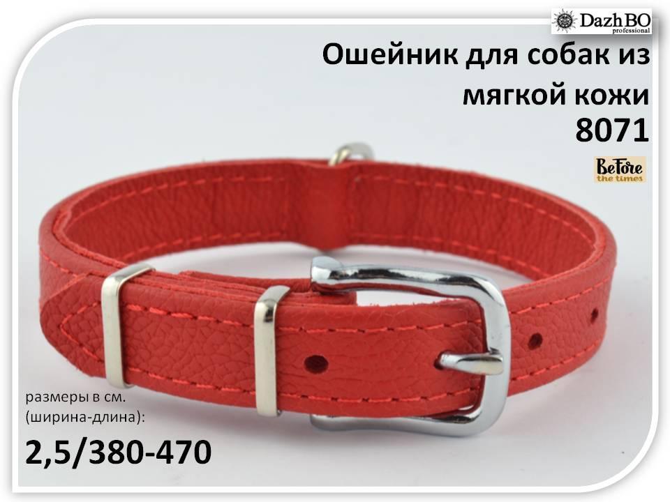 Ошейник для собак  из мягкой кожи 25 мм 380-470  KareLine Before