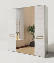 Шкаф для спальни с зеркалом БЬЯНКО 4ДЗ (СВІТ МЕБЛІВ)
