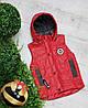 Жилетка код 680 для мальчика,размер 104-122 (4-7 лет), цвет - красный