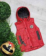 Жилетка код 680 для мальчика,размер 104-122 (4-7 лет), цвет - красный, фото 1