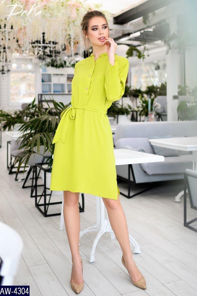 Женское прогулочное весенне-осенние мини платье с капюшоном,рукав длинный (штапель) 2 цвета