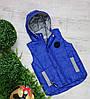 Жилетка код 680 для мальчика,размер 104-122 (4-7 лет), цвет - электрик