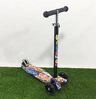 Самокат Scooter Граффити 919-18