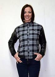Женская ветровка черная куртка в клетку WeSC Ciara  в размере S