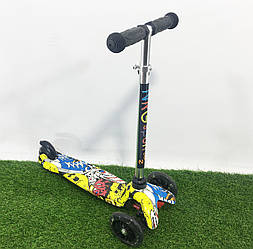 Самокат Scooter череп 919-18