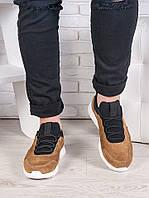 Мужские коричневые кроссовки 6991-28
