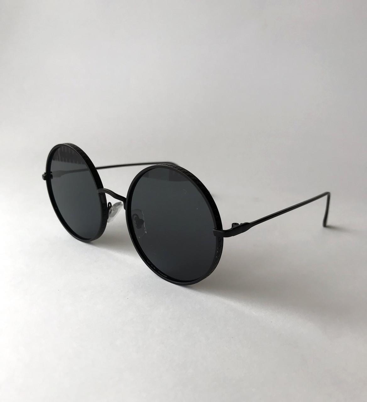 128510e3b9b3 Женские солнцезащитные очки в круглой оправе, круглые очки черные - Bigl.ua