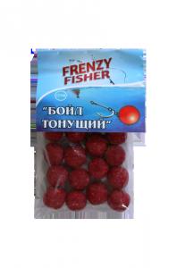 Бойлы тонущие Frenzy Fisher клубника (пакет), фото 2