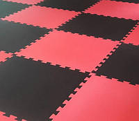 Мат-татами EVA-Т 100х100х2 см Красно-Черный