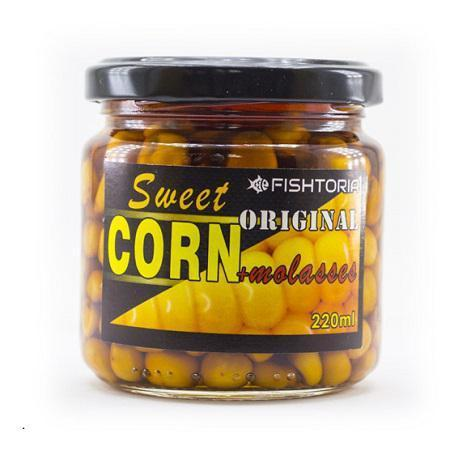 Кукуруза консервированная в мелассе, 220 мл. Чеснок