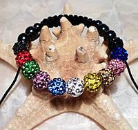 Браслет шамбала разноцветный