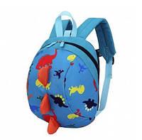 Детский рюкзак Динозаврик голубой от 2 лет
