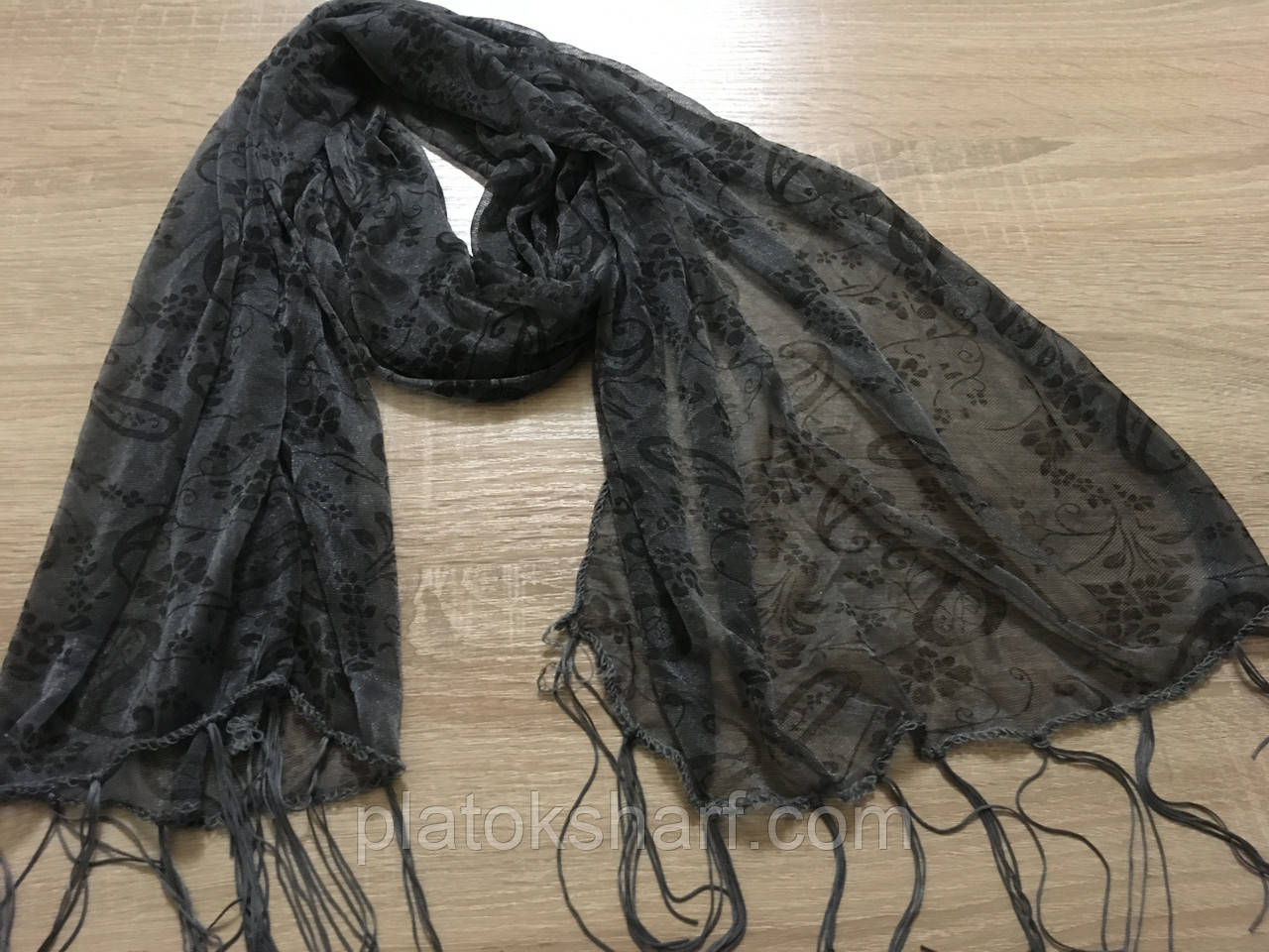 Шарфы с висюльками 150*45 см, разные цвета