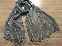 Шарфы, шарфики женские с рисунками и висюльками