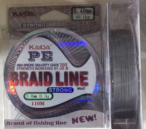 Шнур рыболовный Kaida PE Braid line от 0,10 до 0,4 100 м, фото 2
