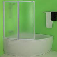Шторка на ванну угловую 110 см складная Kolpa-San Quat TP 108 полистирол