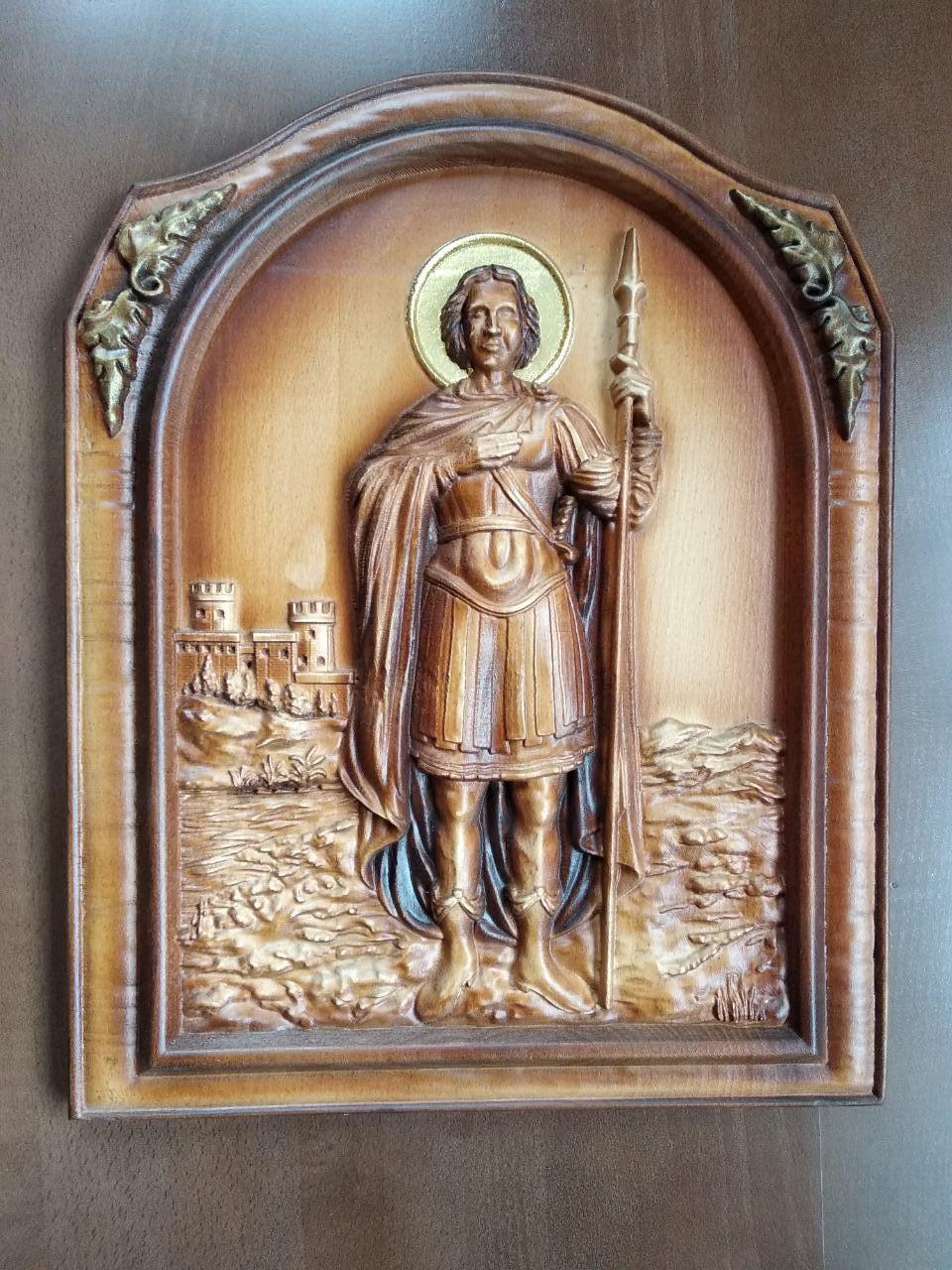 """Дерев'яна ікона """"Георгій"""" 420х330мм"""