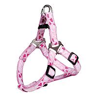 Шлея-петля Trixie нейлоновая «Modern Art» S 40-50 см / 15 мм (розовая)