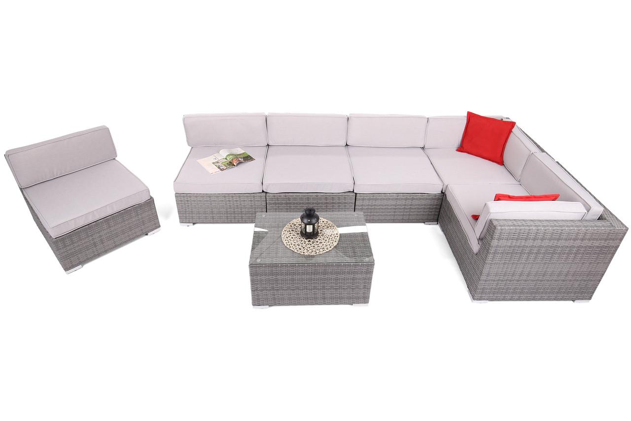 Комплект меблів з техноротангу KANSAS MAXI сірий