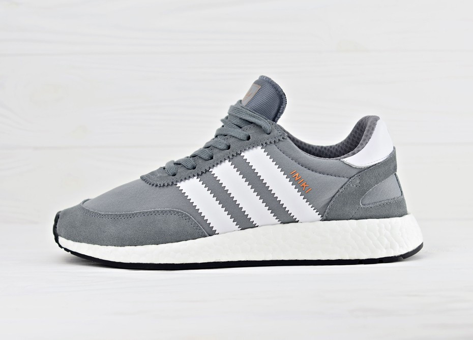 3cffb24b Мужские кроссовки adidas Iniki Runner Boost - Vista Grey/Ftw White/Gum 45  BB2089