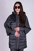 Удлиненная комбинированная куртка Visdeer 834, фото 1