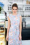 Женский сарафан в пол длинное платье супер софт+принт цветы размер:42-44,46-48,50-52,54-56, фото 8
