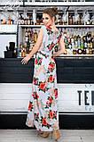 Женский сарафан в пол длинное платье супер софт+принт цветы размер:42-44,46-48,50-52,54-56, фото 4
