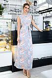 Женский сарафан в пол длинное платье супер софт+принт цветы размер:42-44,46-48,50-52,54-56, фото 3