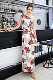 Женский сарафан в пол длинное платье супер софт+принт цветы размер:42-44,46-48,50-52,54-56, фото 2