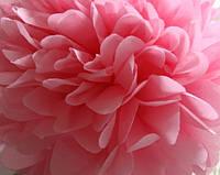 Бумажный помпон нежно-розовый (размеры и цены в описании), фото 1