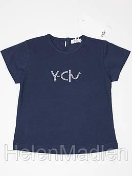 Футболка Y-Clu детская со стразами темно-синяя Италия YN10169