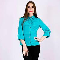 777f466ed4b Рубашка женская бирюзовая в Украине. Сравнить цены