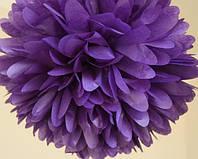 Бумажный помпон фиолетовый (размеры и цены в описании)