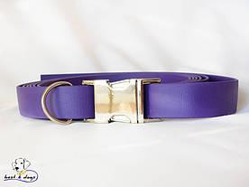 Ошейник из биотана, Фиолетовый, 19мм(с черным фастексом)