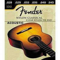 Fender 100 комплект струн для классической гитары, 28-43