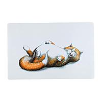 Коврик под миску Trixie «Thick Cat» 44 см / 28 см (белый)