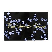 Коврик под миску Trixie «Cats Favourite Diner» 44 см / 28 см (чёрный)