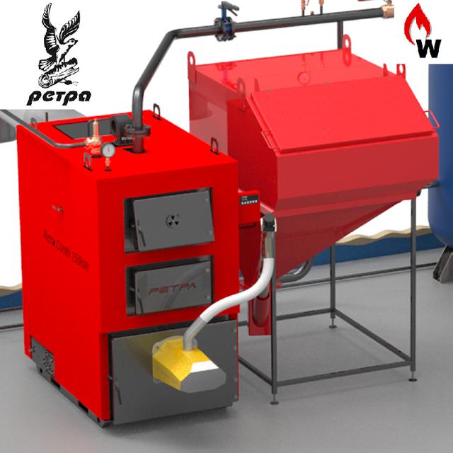 Котлы с автоматической подачей топлива Ретра-4М COMBI (с факельной горелкой)