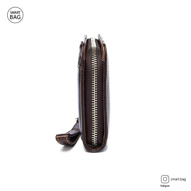 Мужское кожаное портмоне | вид сбоку