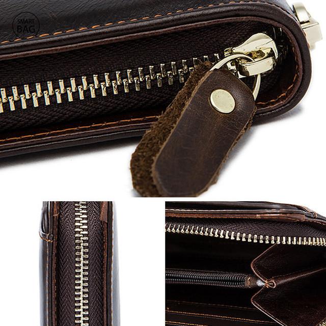 Мужское кожаное портмоне | увеличенный вид деталей
