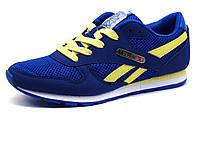 Кроссовки Reebok Classic унисекс, комбинированные, синие/ желтые, фото 1