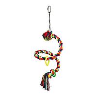 Игрушка для птиц Trixie Канат плетёный 50 см, d=21 мм (текстиль)